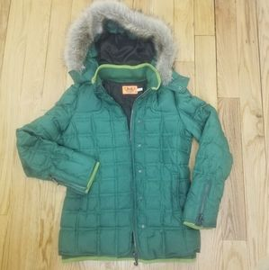 Juicy Couture Green Puffer Down Jacket size S